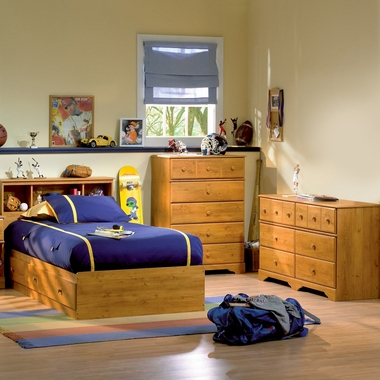 4 piece bedroom set fusion queen mates bed bookcase - South shore 4 piece bedroom furniture set ...