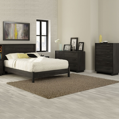 3 piece bedroom set back bay queen platform bed with - South shore 4 piece bedroom furniture set ...