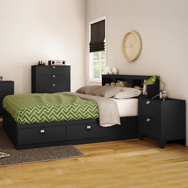 3 piece bedroom set karma twin mates bed 5 drawer chest - South shore 4 piece bedroom furniture set ...