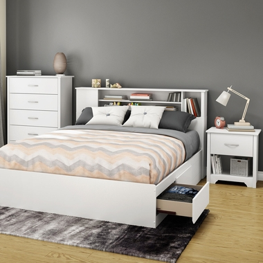 4 piece bedroom set libra twin platform bed bookcase - South shore 4 piece bedroom furniture set ...