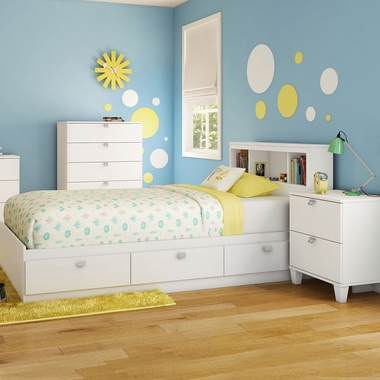 3 piece bedroom set vito full queen headboard 5 drawer - South shore 4 piece bedroom furniture set ...