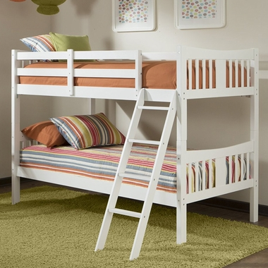 Caribou bunk bed in white 09720 121 by storkcraft bunk for Stork craft caribou bunk bed