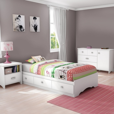 4 piece bedroom set little treasures full mates bed - South shore 4 piece bedroom furniture set ...