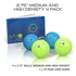 "Myofoam Deep Tissue Trigger Point Massage Balls 2.75"" Medium & High Density 4 Pack"