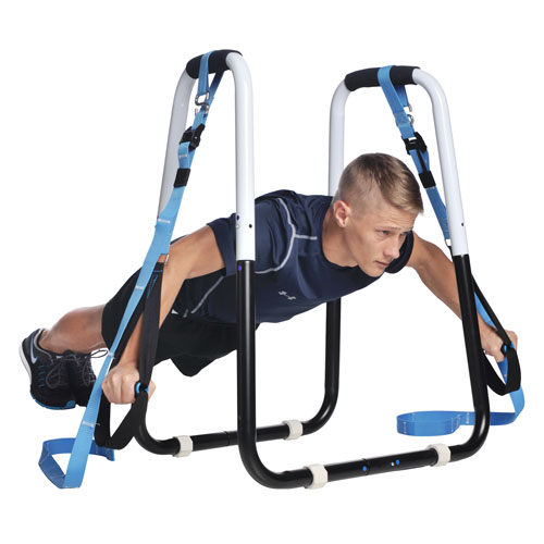 dip bar fitness station and suspension trainer home fitness package