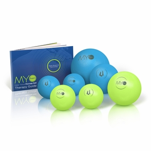 "Myofoam Deep Tissue Trigger Point Massage Ball 7 Pack with 5"" Mobility Ball"