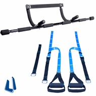 New Pull Up Bar Bodyweight Resistance Trainer Package Deal