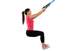 Suspension Trainer Assisted Squats