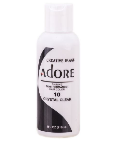Adore Semi Permanent Hair Color 10 CRYSTAL CLEAR 4 oz