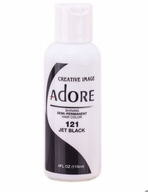 Adore Semi-Permanent Hair Color 121 JET BLACK 4 oz