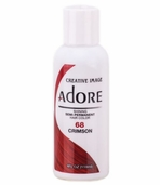 Adore Semi-Permanent Hair Color 68 CRIMSON 4 oz