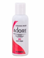 Adore Semi-Permanent Hair Color 81 HOT PINK 4 oz