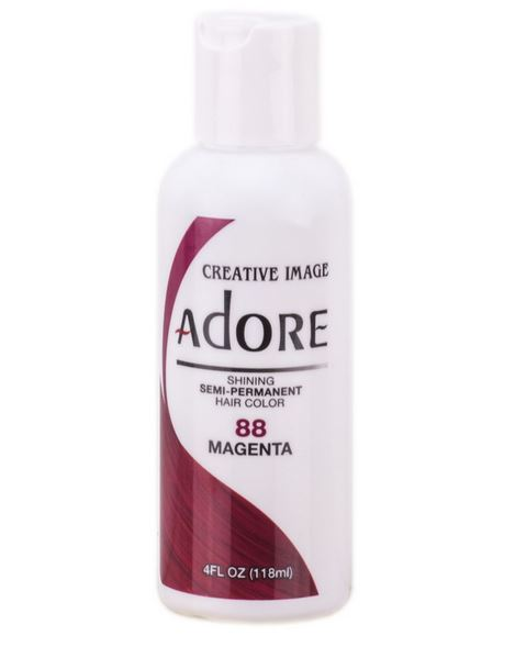 Adore Semi-Permanent Hair Color 88 MAGENTA 4 oz