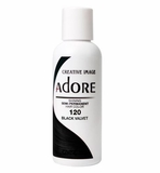 Adore Shining Semi-Permanent Hair Color 120 BLACK VELVET 4 oz