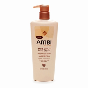 AMBI SOFT AND EVEN CREAMY OIL LOTION 12OZ