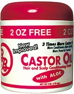BB Castor Oil Hair Straightening Creme with Aloe, 6 oz