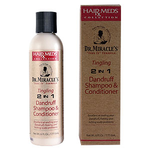 DR MIRACLE'S Tingling 2 in 1 Dandruff Shampoo & Conditioner 6OZ