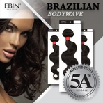 Ebin Virgin Hair Brazilian Body wave GRADE 5A 18""
