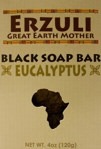 ERZULI BLACK SOAP BAR -EUCALYPTUS 4 oz