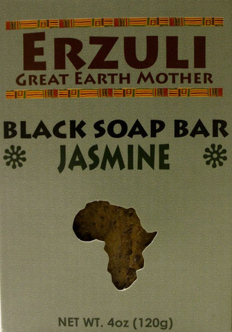 ERZULI BLACK SOAP BAR - JASMINE 4 oz