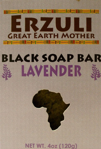 ERZULI BLACK SOAP BAR - LAVENDER 4 oz