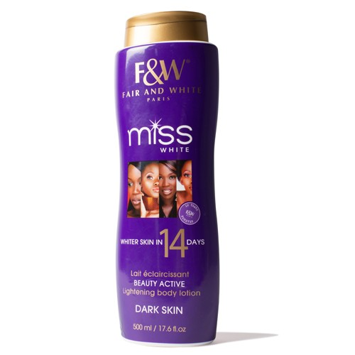 Fair and White Miss White 14 DAY Body Lotion -Dark Skin  500ml