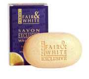 FAIR and WHITE SAVON EXFOLIATING SOAP VIT C 7 OZ