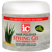 Fantasia Hair Polisher Styling Gel with Sparkle Lites 16 OZ