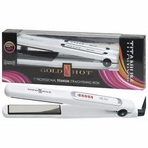 "Gold 'N Hot 1"" Professional Titanium Straightening Iron"
