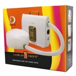 Gold N Hot Professional Ionic Soft Bonnet Hair Dryer 800W Flexible Hose GH3985