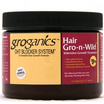 GROGANICS HAIR GRO-N-WILD INTENSIVE GROWTH TREATMENT 6 oz