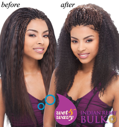 Janet Collection Indi Remy Afro Jerry Bulk 18""