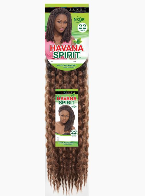 JANET COLLECTION NOIR HAVANA SPIRIT TWIST BRAID 100% KANEKALON -22""
