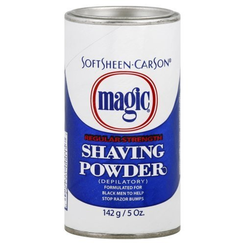 Magic Shave REGULAR STRENGTH Shaving Powder - 5oz Blue/White can