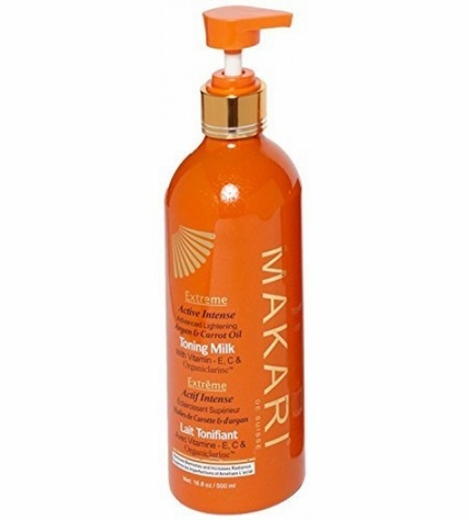 Makari EXTREME Carrot And Argan Oil Intense Lightening Toning Milk Lotion 16 oz