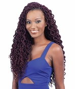 "MODEL MODEL 2X SOFT CURLY FAUX LOC 16"" Synthetic Braiding Hair"