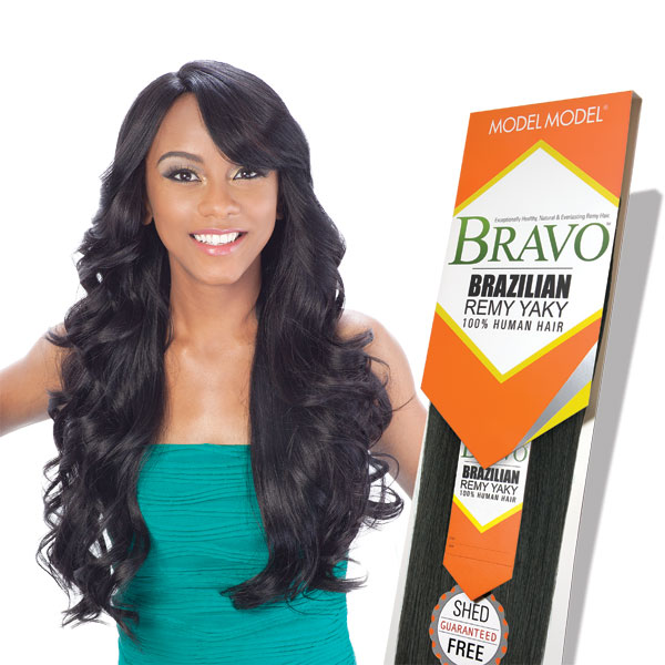 Model Model Bravo 100% Human Hair Brazilian Remy Yaky - STRAIGHT