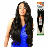 Model Model CLEAN YAKY 100% HUMAN HAIR WEAVE NATURAL STRAIGHT