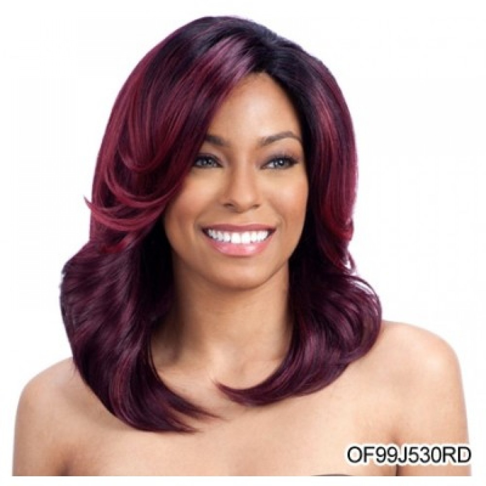 Model Model Deep Invisible 3 Way Part Lace Front Wig – Breezy