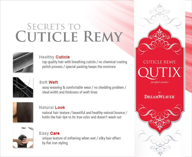 MODEL MODEL DREAMWEAVER CUTICLE REMY QUTIX WEAVE