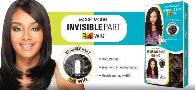 Model Model Invisible Part Synthetic 3/4 Wig Yumi