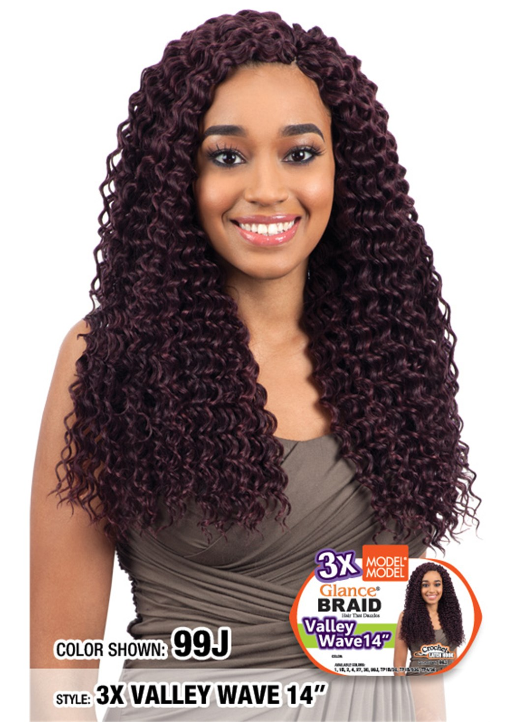 Model Model SYNTHETIC BRAID GLANCE 3X VALLEY WAVE 14