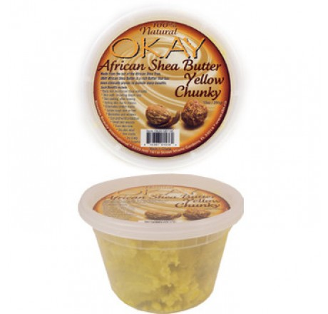 Okay African Shea Butter Yellow Chunky 10 oz