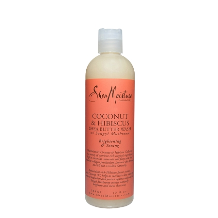Shea Moisture Coconut And Hibiscus Body Wash 13 oz