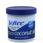 Softee Coconut Oil Hair And Scalp Conditioner 12 oz