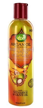 TCB Naturals Argan Oil Moisturizing Lotion Treatment 8 Oz