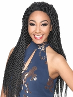 Zury Hollywood Sis Afro Braid Lace Front Wig HAVANA