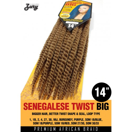 ZURY Synthetic Crochet Braid SENEGALESE TWIST BIG 14""