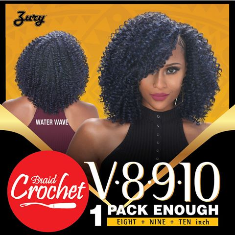 Zury WATER WAVE Synthetic Crochet Braid- V8910 Naturali Star