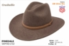Stetson Pinedale crushable wool